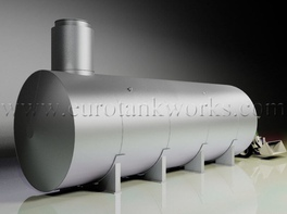 Horizontal shop-welded steel storage tank. Capacity = 75cbm