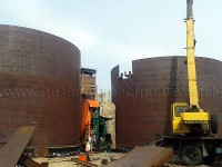 Manufacturing of walls, bottom and tank roof