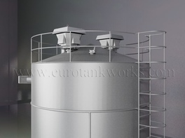 Vertical 100 m³ cylindrical steel tank