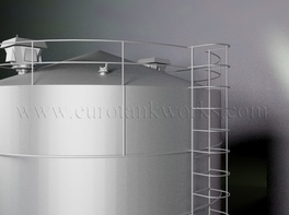 Vertical 300 m³ cylindrical steel tank