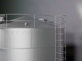 Vertical 400 m³ cylindrical steel tank