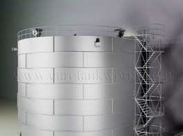 Vertical 2000 m³ cylindrical steel tank