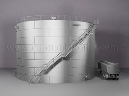 Vertical 3000 m³ cylindrical steel tank