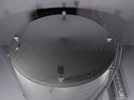 Vertical 5000 m³ cylindrical steel tank