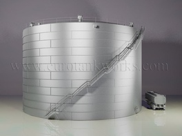 Vertical 10000 m³ cylindrical steel tank