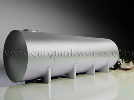 Horizontal shop-welded steel storage tank. Capacity = 50cbm