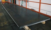 Storage Tank Fabrication - Edging Metal Before Welding